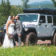 Bride, Groom and Jeep
